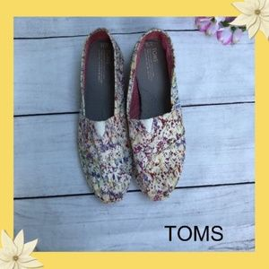 TOMS paint splatter shoes Size 12W